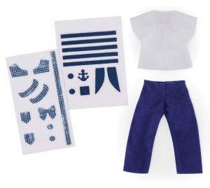 Corolle - FBL51 - Ensemble t-shirt & pantalon à customiser pour poupée Ma Chérie Création