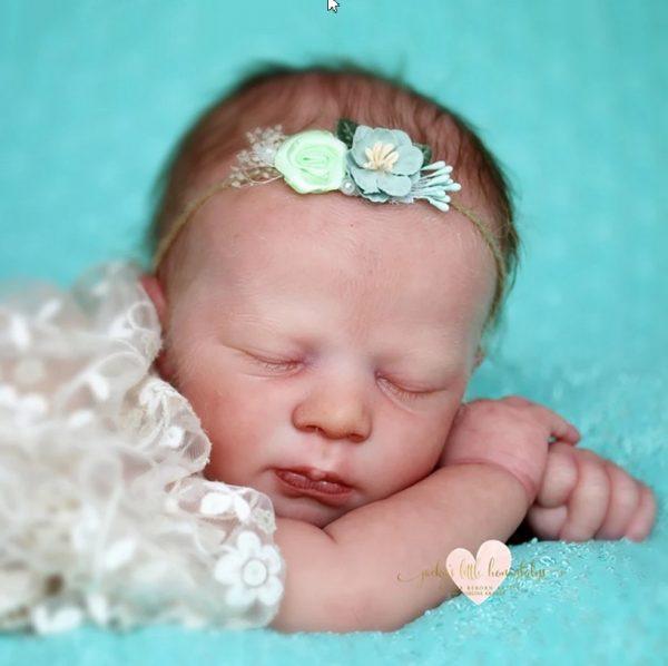 Alexa sleeping Realborn sans corps avec 1kg de billes de verre