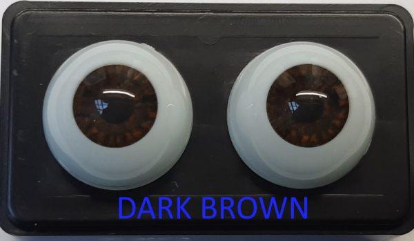 Glastic realistic Eyes Dark Brown